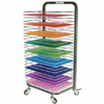 25 Shelf Mobile Drying Rack Double Sided